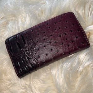 Faux alligator wallet